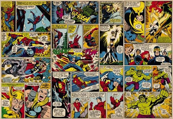 FOTOMURAL MARVEL COMIC HEROES 8-427
