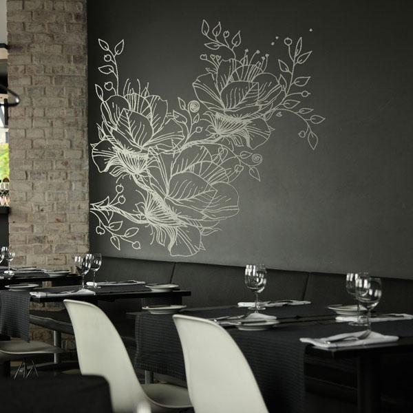 Vinil Decorativo Floral FL044