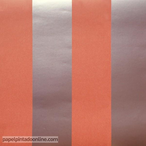 Papel às riscas em laranja e prata ref. 11507
