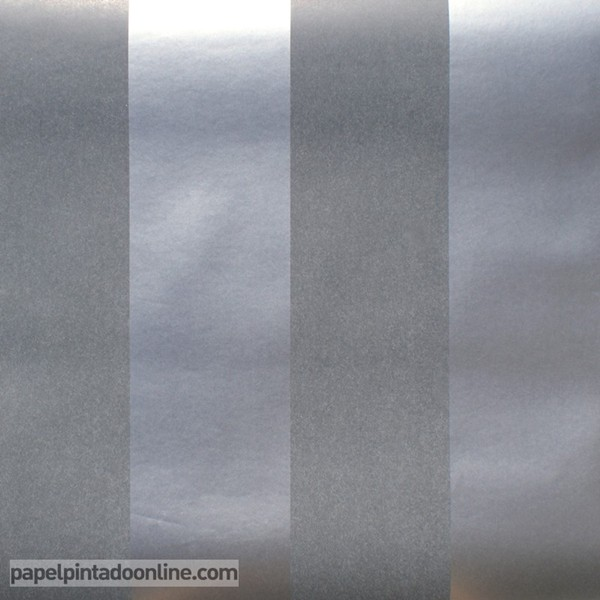 Papel às riscas em verdete e prata ref. 11509
