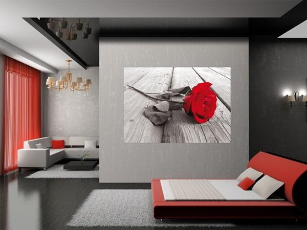 Mini Fotomural Red Rose FTM0819