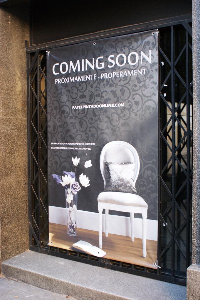 Nova loja papel de parede em Barcelona