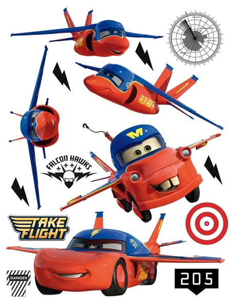 Sticker Disney Cars Flying DK_1702