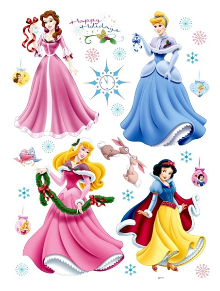 Sticker Disney Princess New Year DK_888