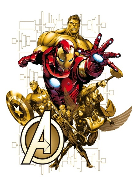 Sticker Marvel Iron Man Avengers DK_1718