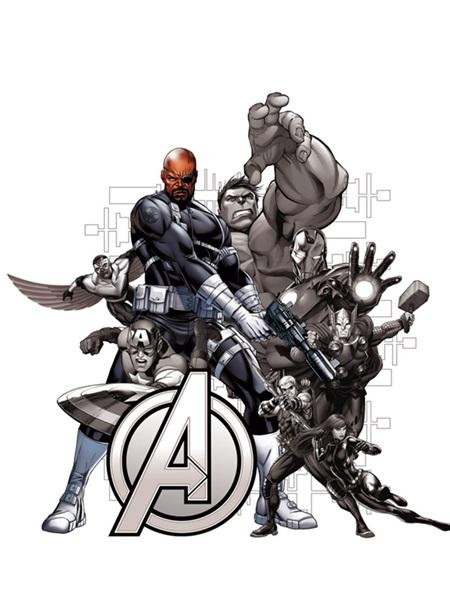 Sticker Marvel Nick Fury Avengers DK_1716