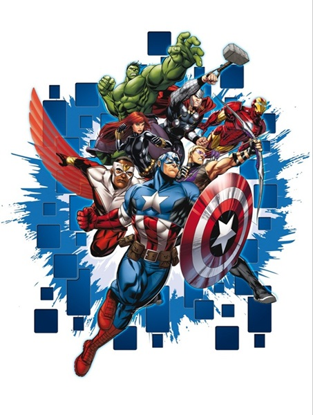Sticker Marvel The Avengers DK_1715