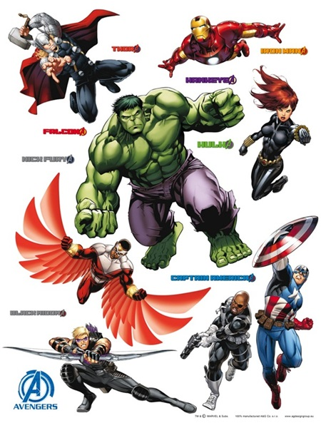 Sticker Marvel The Avengers Group DK_1719