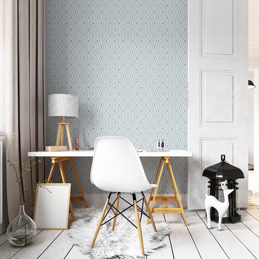 Papel de parede geom trico est de moda papel de parede - Papel pared online ...