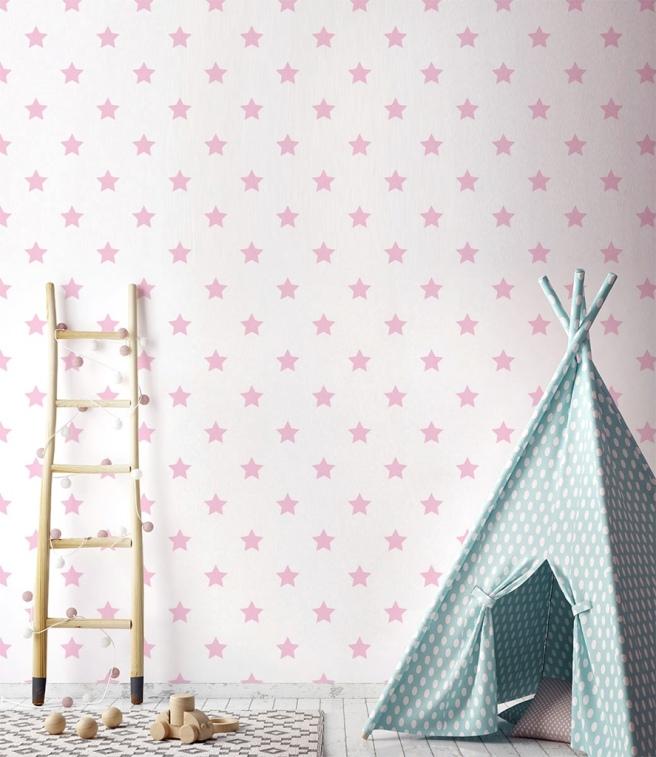 papel_pintado_estrelas_rosa