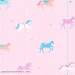 Papel Infantil Carousel Ref - DL21119