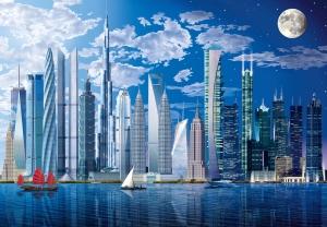 Mural Ref 00120 World's Tallest Buildings
