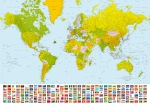 Mural Ref 00280 World Map