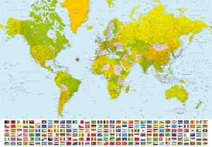 Mural Ref 00280 World Map