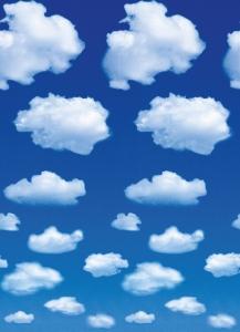 Mural Ref 00402 White Clouds