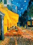Mural Ref 00420 Terrasse de Café la Nuit