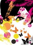 Mural Ref 00439 Floral Girl