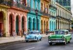 Oldtimer am Paseo de Marti in Havanna, Kuba