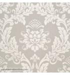 papel-de-parede-damasco-beje-perola-fundo-cinza-claro-imitacao-textura-tipo-tecido-962