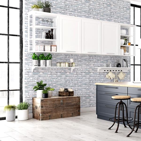 Papel de parede imitação tijolo 1015