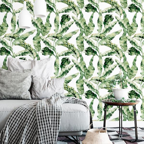 papel de parede natureza bananeiras verde
