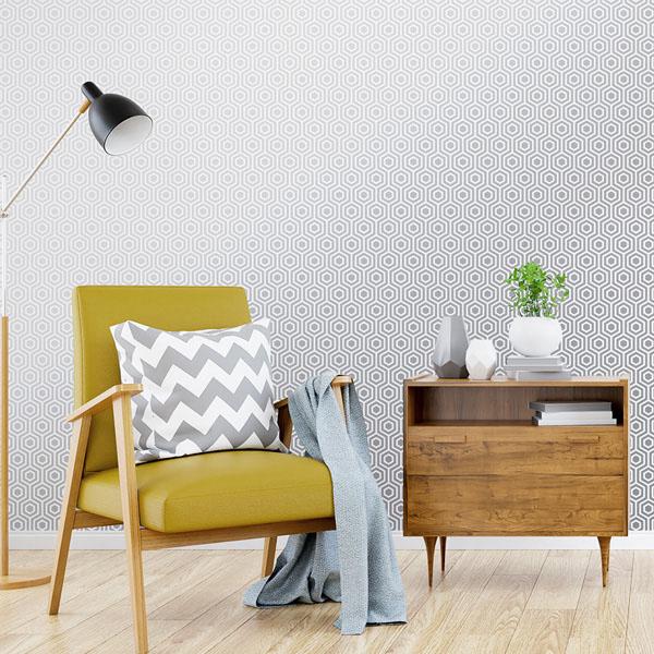 Papel de parede geométrico Ref: 946