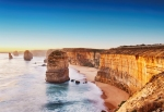 Mural ref 5037-4V-1_Cliff-at-Sunset-in-Australia