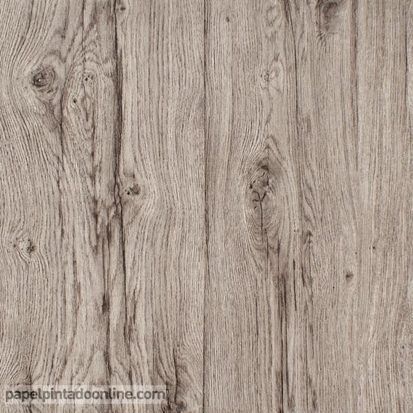 Papel de parede imitação madeira marron