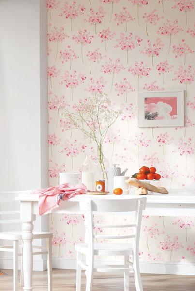 Papel de parede coleção florescence Casadeco