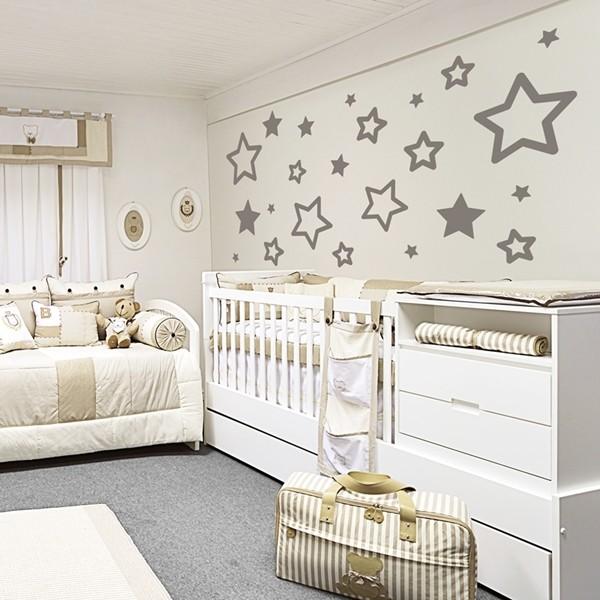 Vinil decorativo infantil de estrelas