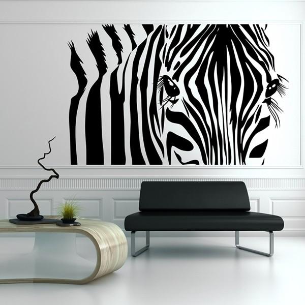 vinil decorativo moderno zebra