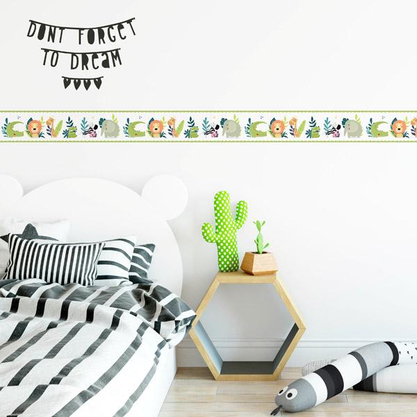 parede decorada com faixa Basic Borders infantil