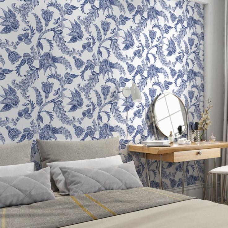 Papel de parede Floral Oriental sense