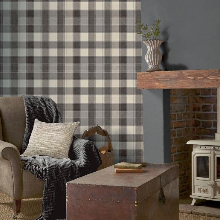 Papel de parede xadrez escocês Town & country