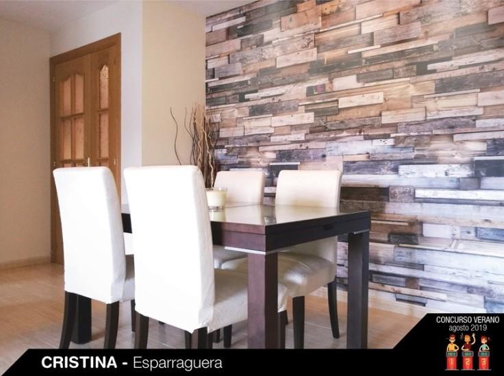 Papel de parede imiração madeira