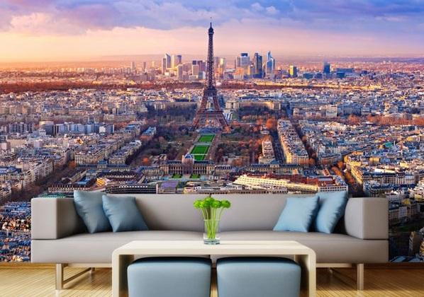 Fotomural panorâmico de Paris