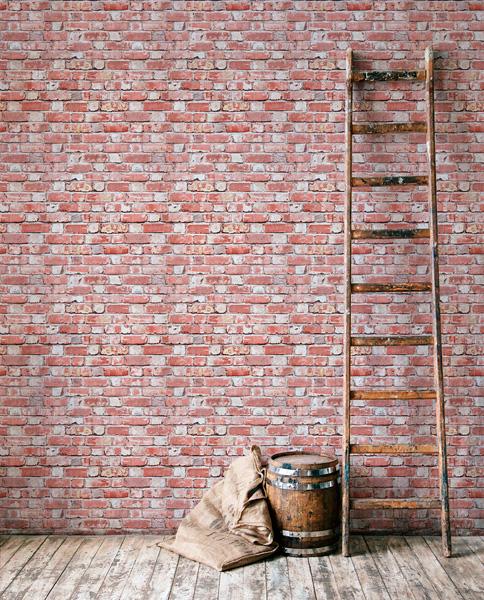 Papel de parede imitação tijolinho a vista