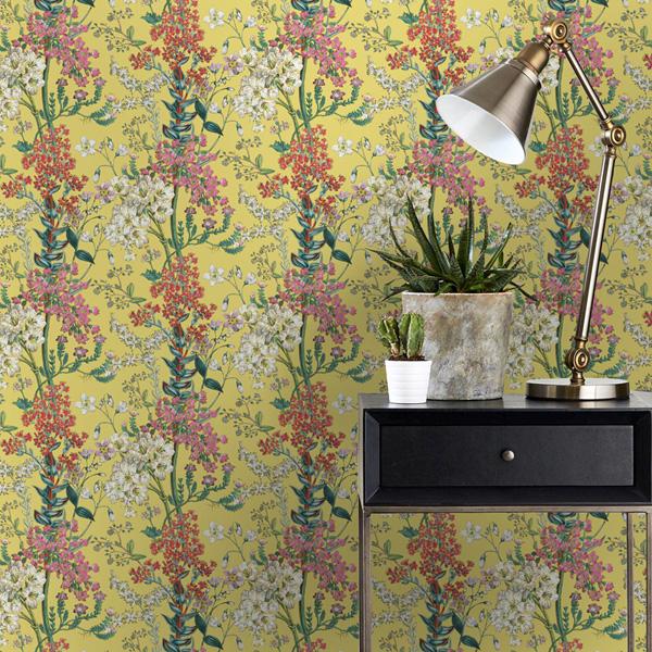 Papel de parede floral Kaleidoscope