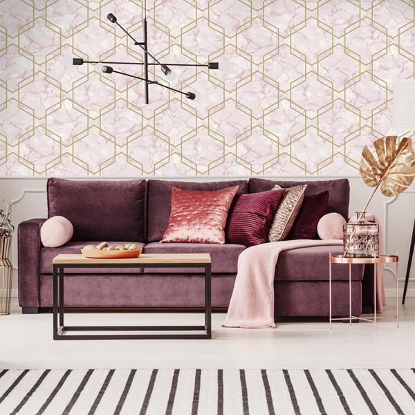 papel de parede geométrico kaleidoscope