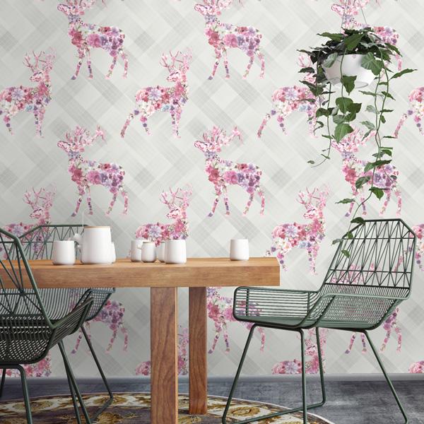 papel de parede kaleidoscope cervos