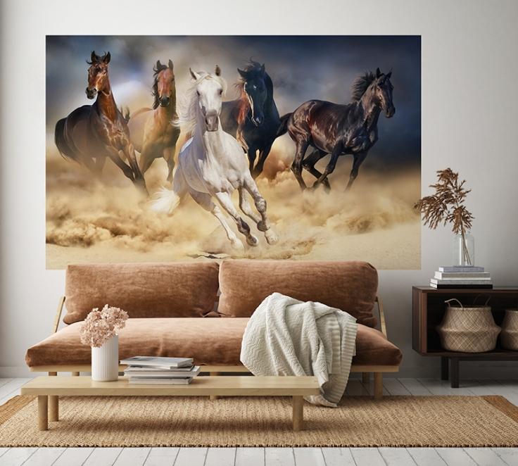 fotomural cavalos 1P-60002