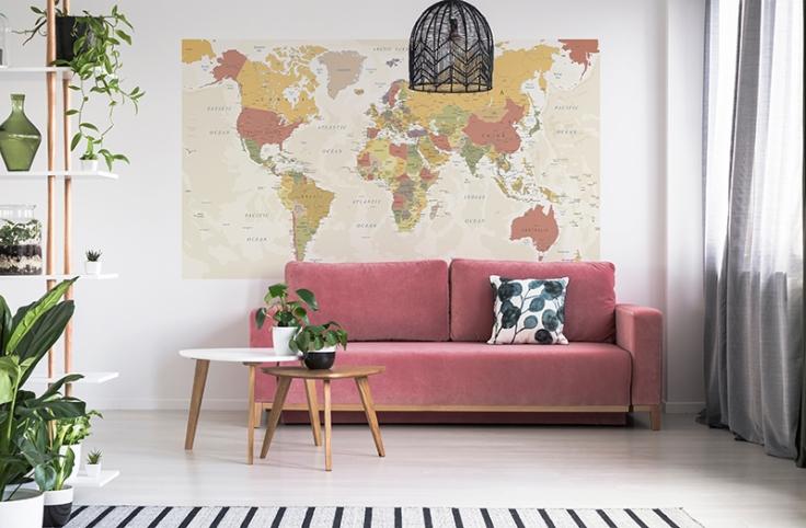 fotomural de Mapa Mundo 1P-91001