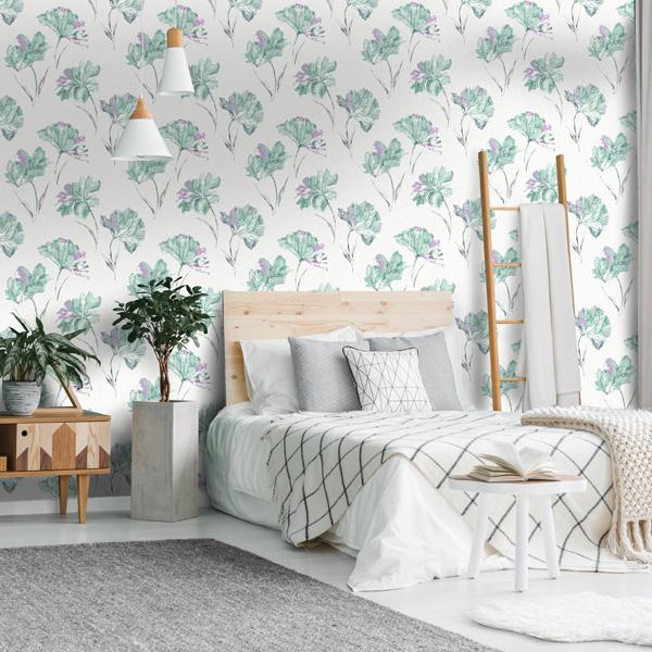 papel de parede flores azaleia fundo claro