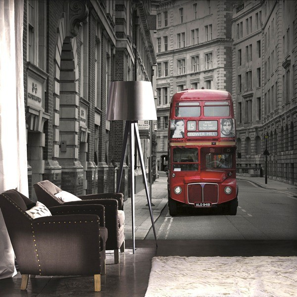 painel decorativo autobus londres