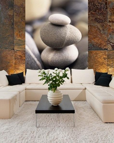 fotomural pedras zen
