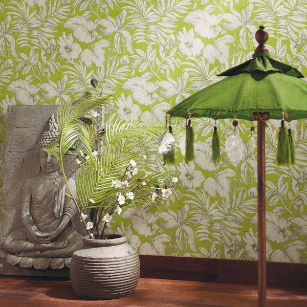 papel de parede natureza folhas verde claro