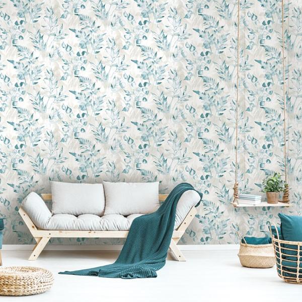 Papel de parede folhas verdes natureza
