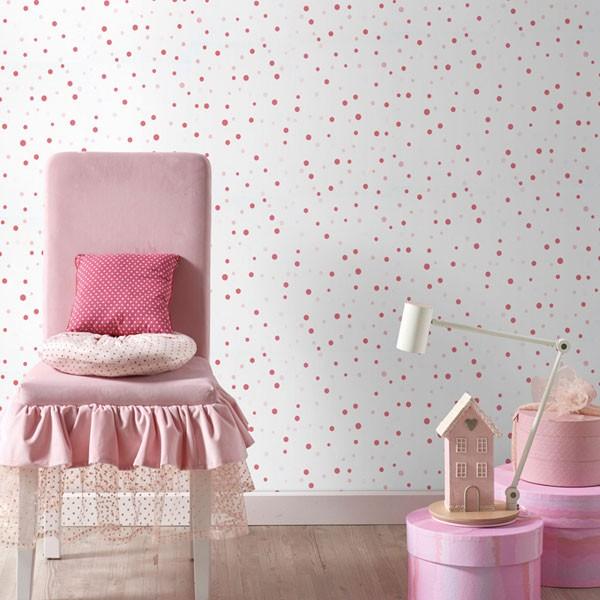 Papel de parede bolas rosas sambori