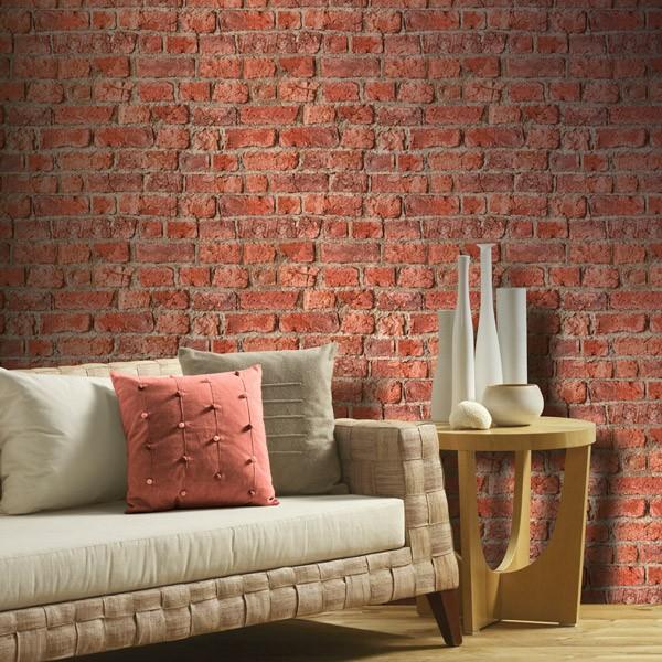 Papel de parede tijolinho rústico