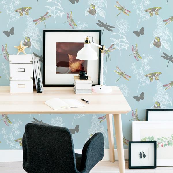 papel de parede natureza com borboletas